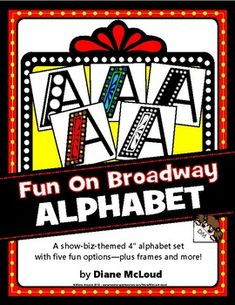 Alphabets on Broadway! - Upper-Case Hollywood Style Alphabets in 5 Options Cubby Labels, Teacher Created Materials, School Play, Hollywood Fashion, Book Themes, Card Kit, Creative Writing, Headers