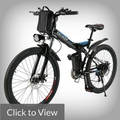 Brand: ANCHEER Smart Phone fast USB Charging Interface design Shimano gear transmission Disc Suspension Fork Speed up to speed b Mountain Bike Frames, Electric Mountain Bike, Mountain Bicycle, Mountain Biking, Foldable Electric Bike, Folding Electric Bike, Electric Bicycle, Bike Folding
