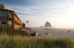 Surfsand Resort at Cannon Beach.  My favorite place on the Oregon Coast.  Awesome in the summer for beach fires and tidal pools, but it's crowded in town.  I love to go in the Winter when there's nobody there and it's just as gorgeous.