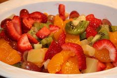 Tropical Fruit Salad - Fruit is always a great choice for breakfast!