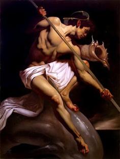O trabalho do jovem artista italiano Roberto Ferri, nascido em 1978, é inspirado em mestres da pintura clássica  como Caravaggio e David.