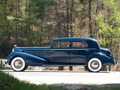 1936 Cadillac V16 Blue Town Sedan by Fleetwood.
