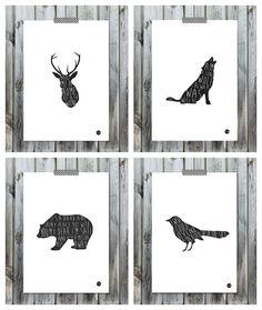Láminas de animales de To The Wild | Decoración Hogar, Ideas y ...