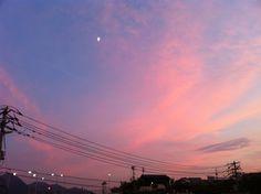 Sunset and Half Moon