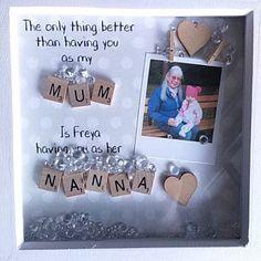 Personalised Family Tree Grandma Frame Gift For Granny Gift Marco Scrabble, Scrabble Frame, Scrabble Art, Goddaughter Gifts, Nana Gifts, Best Friend Gifts, Cute Baby Gifts, Baby Girl Gifts, New Baby Gifts