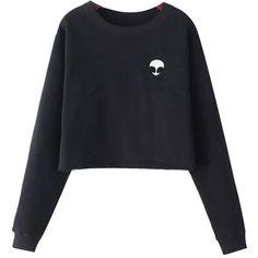 Chicnova Fashion Cropped Fleece Sweatshirt ($15) ❤ liked on Polyvore featuring tops, sweaters, shirts, jumpers, pattern shirt, print top, fleece lined shirt, fleece shirt and crew neck shirt