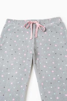 Pantaloni pigiama pile stampati, Grigio