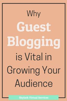 Guest blogging is when you have someone write their content for your site or you do the same for them.  It has a lot of benefits and can be vital to grow your audience, especially with social media.  Here are some reasons to do it and some tips on how to
