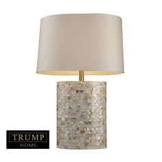 Trump Home Sunny Isles Table Lamp In Genuine Mother Of Pearl D1413