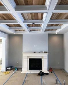 Top 50 Best Coffered Ceiling Ideas Sunken Panel Designs Top 50 Best Coffered C. Top 50 Best Coffered Ceiling Ideas Sunken Panel Designs Top 50 Best Coffered C… Top 50 Best Co Diy Ceiling Paint, Home Ceiling, Bedroom Ceiling, Ceiling Decor, Ceiling Ideas, Ceiling Lighting, Wall Decor, Waffle Ceiling, Plafond Design