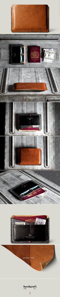 Passport Wallet . Classic HARDGRAFT
