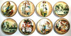 Set of 8 Vintage Alice in Wonderland Dresser Drawer Knobs - Amazon.com