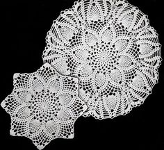 NEW! Pineapples Large & Small Doily crochet patterns from Star Doily Book No. 137, by American Thread Company.