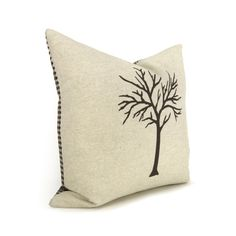 16x16 Tree Pillow Cover  Dark Brown & Natural by ClassicByNature, $52.00
