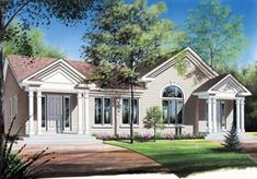 Colonial Traditional Multi-Family Plan 65026 Elevation
