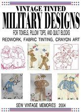 CD Vintage US WWII Military Hand Embroidery Vogart Pillow Quilt Designs