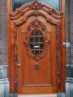 Antique Carved Wooden Door--beautiful
