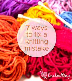 7 ways to fix a knitting mistake - LoveKnitting blog.