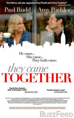 """Amy Poehler & Paul Rudd Have Teamed Up Again For A Sweet On-Screen Romance """"They Came Together"""" debuting exclusively on BuzzFeed."""