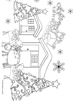 Free Printable Xmas Coloring Pages Christmas Crafts For Kids, Christmas Activities, Christmas Printables, Christmas Colors, All Things Christmas, Kids Christmas, Holiday Crafts, Christmas Coloring Pages, Coloring Book Pages