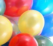 enfeite de mesa com balões