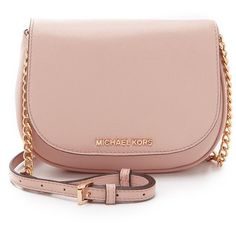 MICHAEL Michael Kors Bedford Small Cross Body Bag (220 CAD) ❤ liked on Polyvore featuring bags, handbags, shoulder bags, ballet, leather crossbody, pink shoulder bag, leather cross body purse, leather purse and leather crossbody handbags