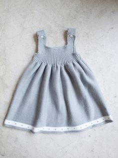 Grey Knitted Dress 100 wool antiallergic by LittleStarsPT
