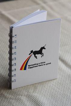 Letterpress journal Unicorn Single by PortPaperCo on Etsy, $11.00