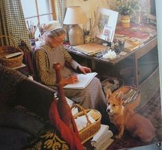 Tasha Tudor and corgi Tilda Swinton, Ute Lemper, Die Tudors, Vie Simple, Maria Callas, Herding Dogs, Tudor House, Sophia Loren, Beatrix Potter