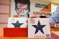 """David Bowie's new album """"Blackstar"""" was displayed at the exhibition 'David Bowie Is' at the Groninger Museum, in Groningen, The Netherlands, last week."""