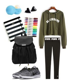 """""""basic day at school"""" by xabithavanessa on Polyvore featuring Eos, NIKE and Kate Spade"""