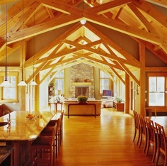 The living room scissor truss... kinda. The kitchen and dinning room wouldn't be truss, as the second floor would go there.
