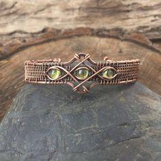 Peridot Bracelet  Wire Wrapped Bracelet  Gemstone Bracelet