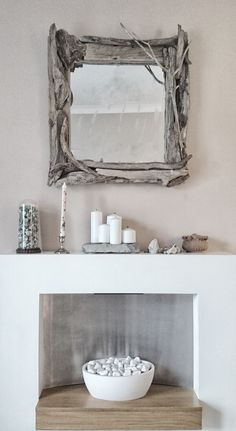 Small handmade driftwood mirror made by Sarah Davies @ OneOfAKind
