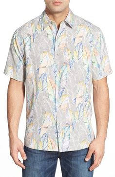 Tori Richard 'Frondescence' Classic Fit Leaf Print Camp Shirt