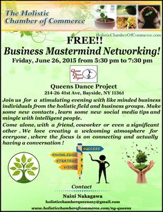 Free Mastermind Networking evening in Bayside, Queens is Tomorrow! Register Now Friday, June 26, 2015 from 5:30 pm to 7:30 pm Queens Dance Project, 214-26 41st Ave, Bayside, NY 11361  Register Online Here http://conta.cc/1DTDJnN