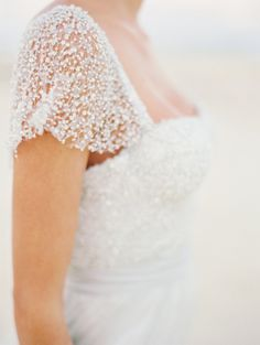 Gorgeous wedding gown sleeve #wedding #details