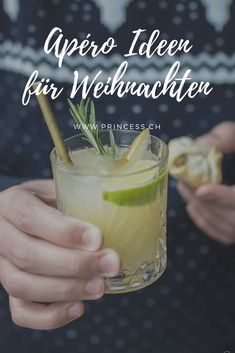 Apéro-Idee: Häppchen und alkoholfreier Drink Non Alcoholic Drinks, Beverages, Snacks, Drinking Water, Hot Chocolate, Appetizers, Fruit, Dips, Ideas For Christmas