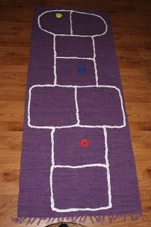 Nice gift for kids, easy to make, hopscotch carpet Hopscotch, Gifts For Kids, Best Gifts, Carpet, Kids Rugs, Sewing, Nice, Easy, How To Make