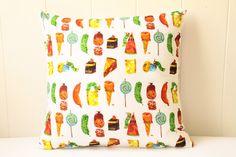 Very Hungry Caterpillar Cushion Cover. $23.00, via Etsy.