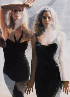 """""""Independent's Day"""": Claudia Schiffer and Christy Turlington photographed by Steven Meisel for Vogue, September 1993"""