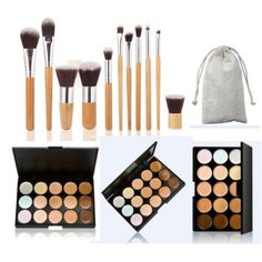 Tonsee 15 Colors Face Concealer Camouflage Cream Contour Palette   11PC Bamboo Brush Set -- Details can be found by clicking on the image. (Note:Amazon affiliate link)
