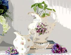 Antique Pitcher Image Digital Instant Download JPG by TuiTrading
