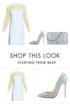 """""""Untitled #305"""" by madebyaliciap ❤ liked on Polyvore featuring Carven, Christian Louboutin and Chanel"""