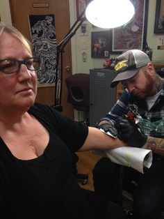 getting inked at Flyrite Tattoo in Brooklyn. Im ready for more!