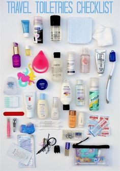 Packing A Travel Toiletries Bag Tips on how to pack a travel toiletries bag - c. Packing A Travel Toiletries Bag Tips on how to pack a travel toiletries bag - checklist included! Travelling Tips, Packing Tips For Travel, Travel Hacks, Travel Ideas, Travel Advice, Carry On Packing, Travel Essentials For Women, Carry On Bag Essentials, Suitcase Packing Tips