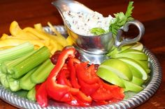 Pecan Blue Cheese Dip with Veggies or Fruit | Recipe for Appetizer