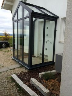 This elegant Porch was manufactured in our Nottingham workshop, Steve and I then travelled for two d Glass Porch, Glass Roof, House With Porch, House Front, Nottingham, Porch Installation, Deco Tv, Sas Entree, Porch Extension