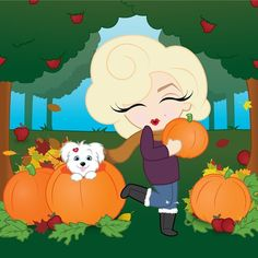 Pumpkin spice and everything nice. Don't you just love the fall? #MiniMarilyn