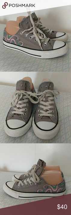 Converse studded sneakers with 2 tongues These should are in good used condition. There is one so on them as shown in the picture. Converse Shoes Sneakers